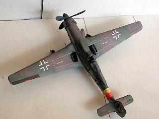 Чертежи авиамодели из бумаги Focke Wulf Ta-152H
