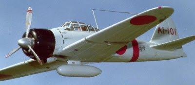 Бумажная авиамодель японского истребителя