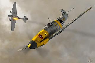 Бумажная модель самолета Messerschmitt Bf.109