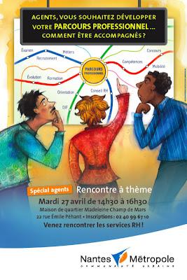 Affiche Rencontre à thème Nantes Métropole Parcours des agents