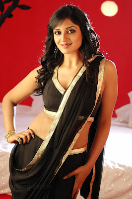 South actress Vimala Raman in hot black saree in movie Chattam