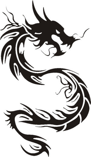 Free Dragon Tattoo Designs Tribal Tattoos Drawing Typically Cool Tribal