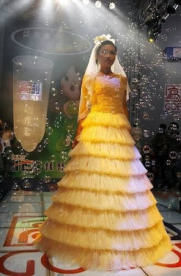 Dresses made of Condom