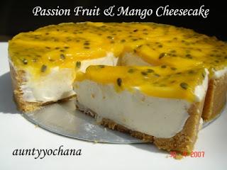 Yochana's Cake Delight! : Passion Fruit & Mango Cheesecake