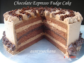 Yochana's Cake Delight! : Chocolate Espresso Fudge Cake