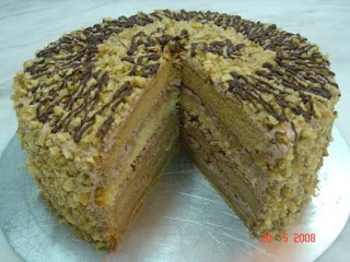 Yochana's Cake Delight! : Mocha Walnut Torte