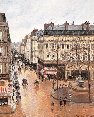 """Imagen del cuadro """"Rue de Saint Honoré aprés-midi. Effet de Pluie"""" (""""Calle de Saint Honoré por la tarde. Efecto de lluvia""""), pintado por Camille Pissarro en 1897, que el estadounidense Claude Cassirer reclama a España.EFE"""