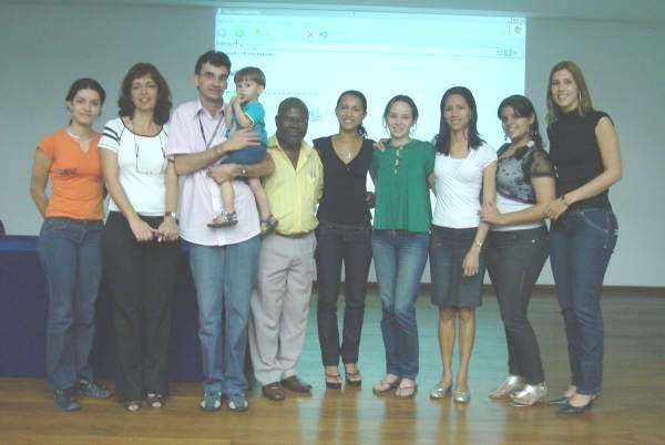 Professores Pedro e Ana Maria com membros do GESAN Prof. Pedro Kitoko