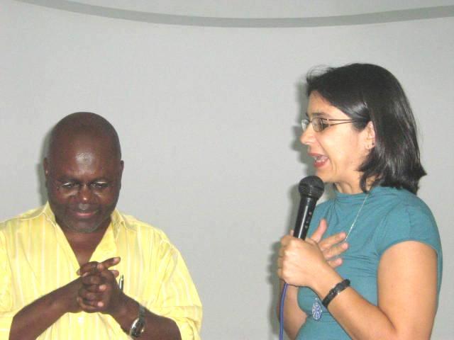 Beatrix Belford e prof. Pedro