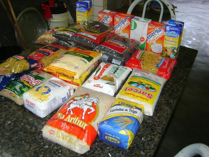 Alimentos doados: IESC-Alegre