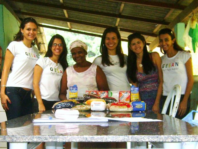 Representantes do CA de Nutrição, GESAN e IESC