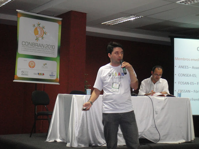 Prof. Wagner Miranda apresentando trabalho no CONBRAN