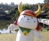 スーパー駅長たまと人気を二分したひこにゃん=滋賀県彦根市