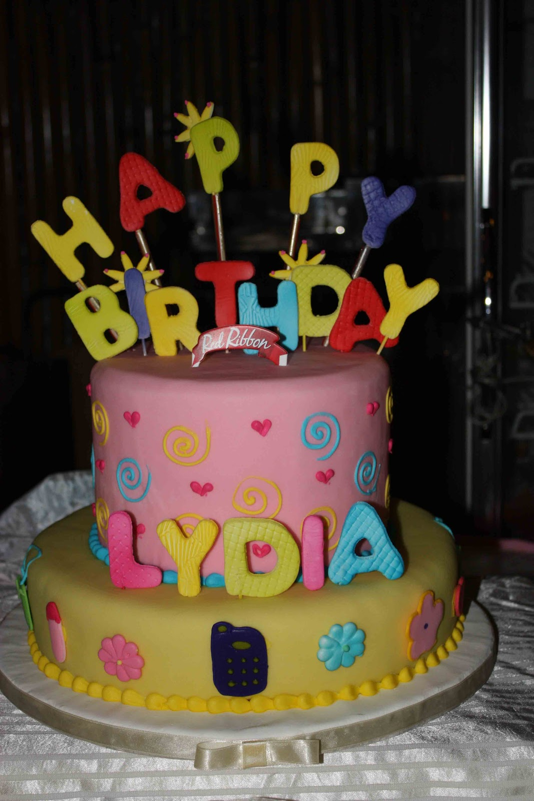 Debut Cake Designs Red Ribbon : Mama Lydia s 60th Birthday