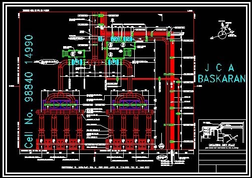 CAD CAM CIM DESIGN: 10. PIPING, HVAC & ELECTRICAL | Hvac Piping Drawing |  | CAD CAM CIM DESIGN - blogger