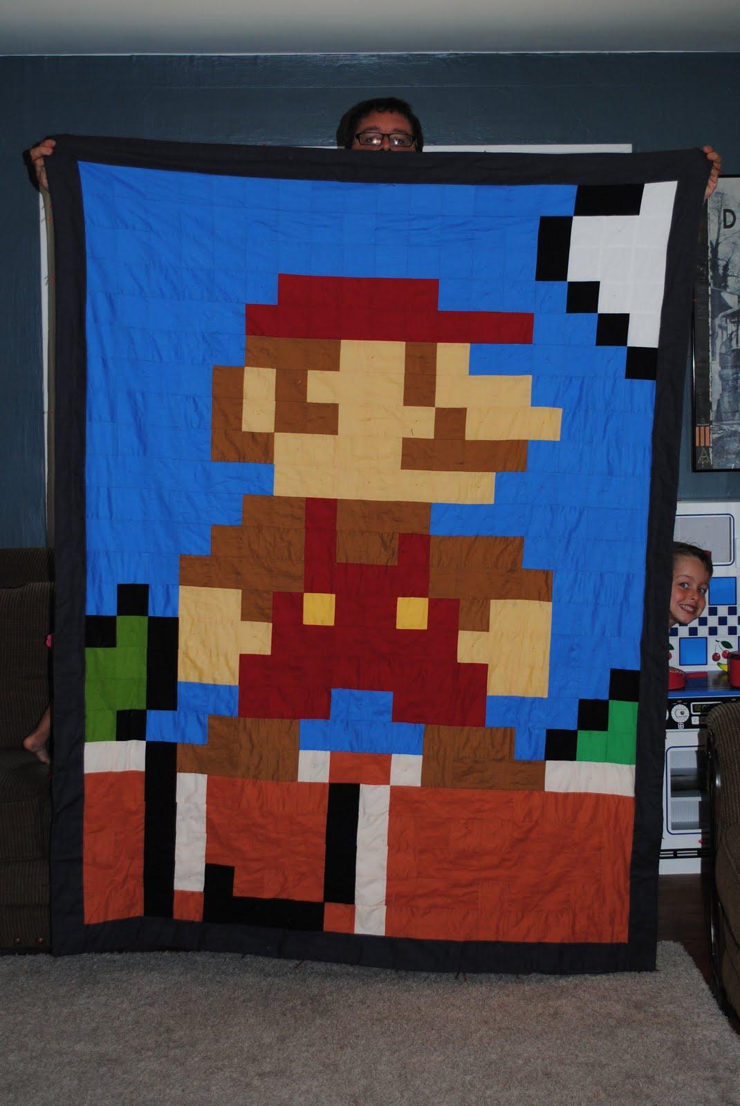 latent chestnut: Super Mario Quilt : 8 bit quilt - Adamdwight.com