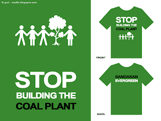 Anti Coal Plant English T-Shirt