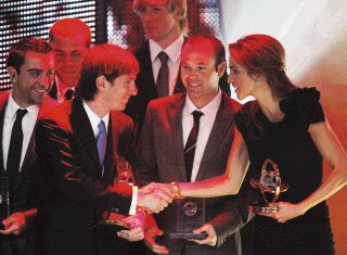 Messi won the prize of the FIFA World Player 2009