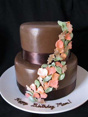 Side view because I love this cute little 2tier Wedding cake gone