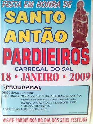 Festa em Honra Santo Antão-Pardieiros