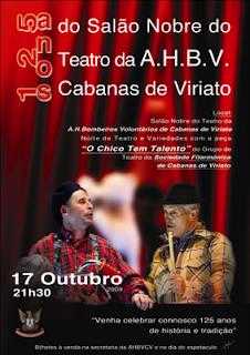 SALÃO NOBRE DO TEATRO DA A.H.B.V CABANAS DE VIRIATO 125 ANOS