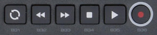 M-Audio Axiom transport buttons
