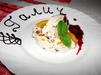 Dessert from Halych Restaurant (Ternopil City, Western Ukraine)