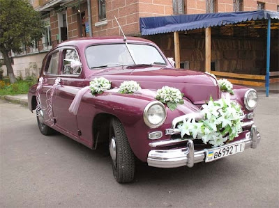 Pobeda Classic Car For Newlyweds Ternopil City West Ukraine