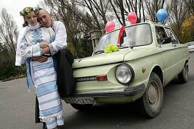 Newlyweds ZAZ 968 Ternopil Ukraine