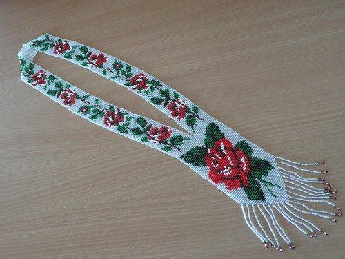 Ukrainian gerdan (beaded necklace)