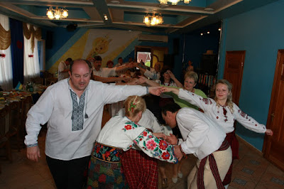 Wedding dance in the Zorepad restaurant in Ternopil