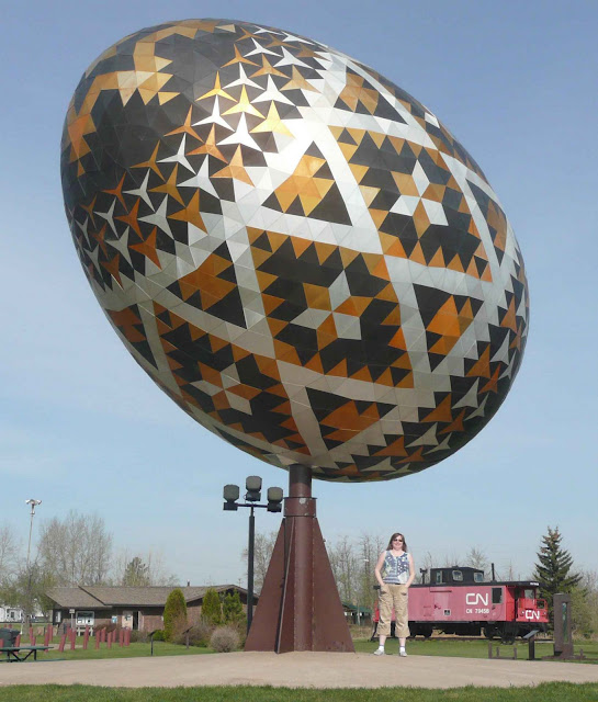 Easter Egg in Vegreville (Canada)