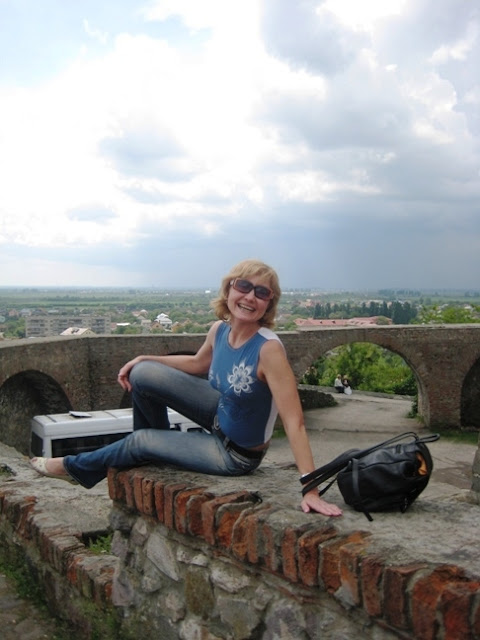 Beautiful Ukrainian Woman On The Top Of The Palanok Castle West Ukraine