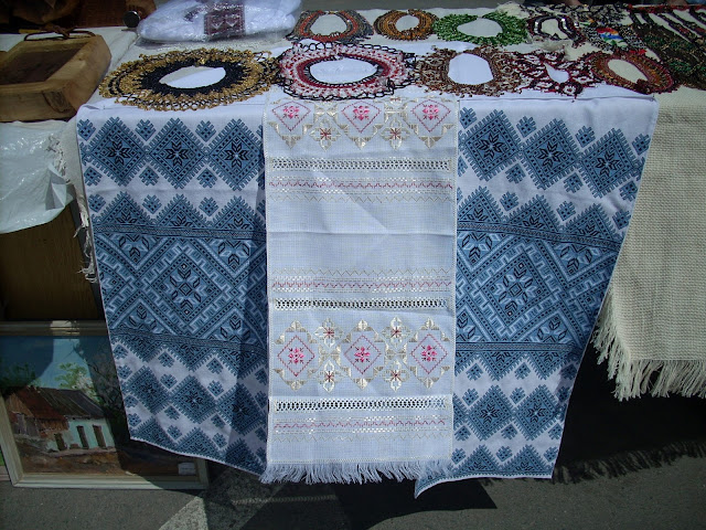 Embroidered Towels Beaded Necklaces Western Ukraine