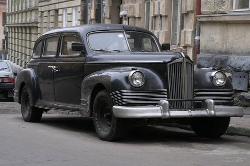 Old Car Lviv West Ukraine
