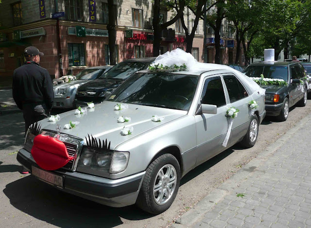Bridal Car Decorations Wedding Ternopil Western Ukraine
