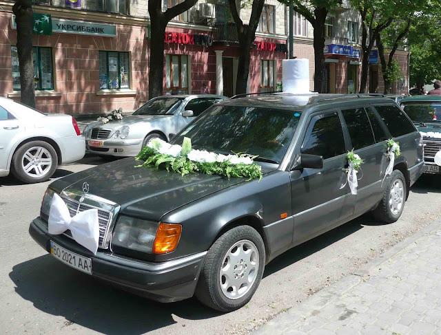 Авто нареченого оригінальний декор Тернопіль