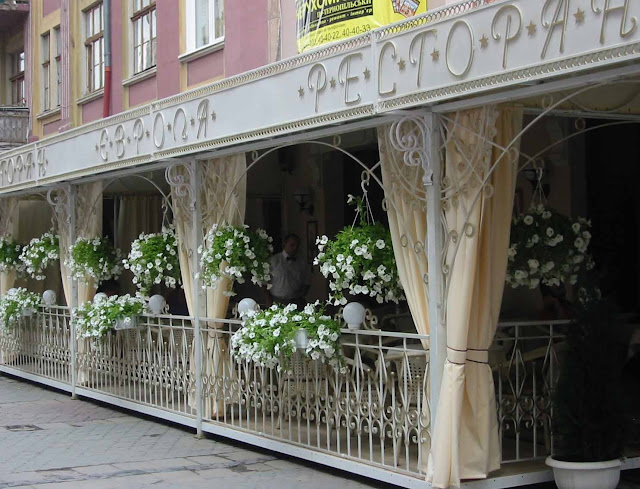 Ternopil Ukraine Europe Restaurant In Flowers