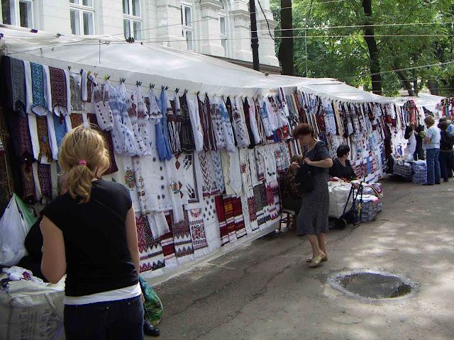Vernisazh Souvenir Market Lviv West Ukraine