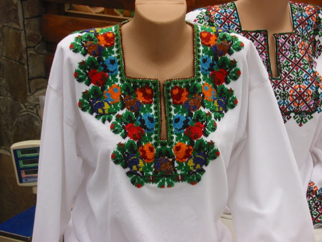 Beaded Embroidered Shirt Western Ukraine