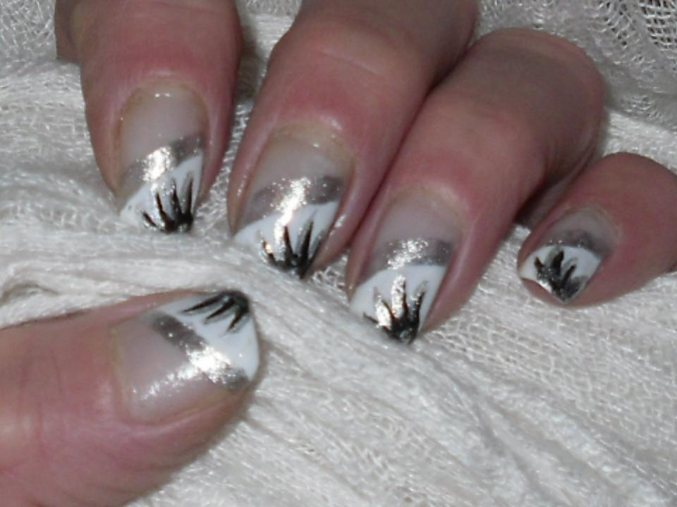 Pretty zebre nail designs