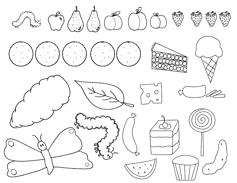 Free Hungry Caterpillar 3 Coloring Pages Hungry Caterpillar Coloring Pages