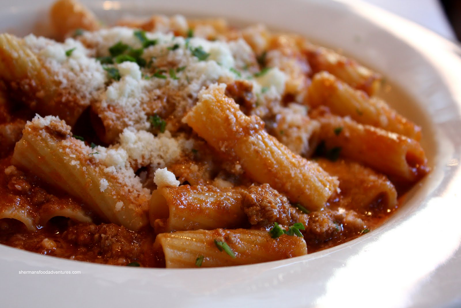 ... with meat sauce weeknight meat sauce with rigatoni recipes dishmaps