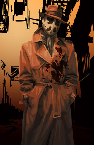 Rorschach badass comic book hero