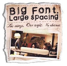 Big Font. Large Spacing