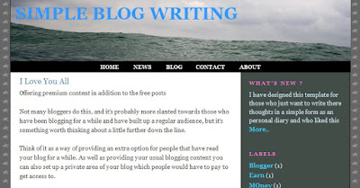 Simple Blog Writing Template