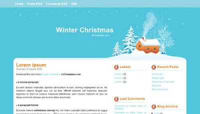 Blogger Templates For Christmas