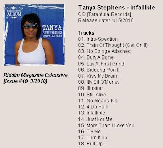 Riddim-Magazine with EXLUSIVE COMPLETE 18 TRACK ALBUM: Tanya Stephens - Infallible