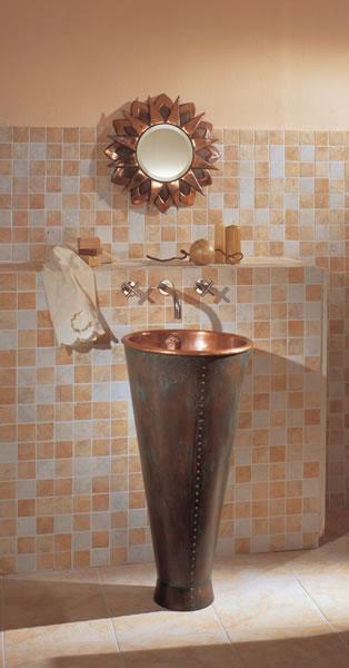 Decora y disena dise o de lavadero de ba o en cobre por ago for Diseno de lavaderos