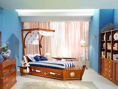 diseño de dormitorio marino
